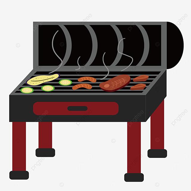 square grill barbecue clipart