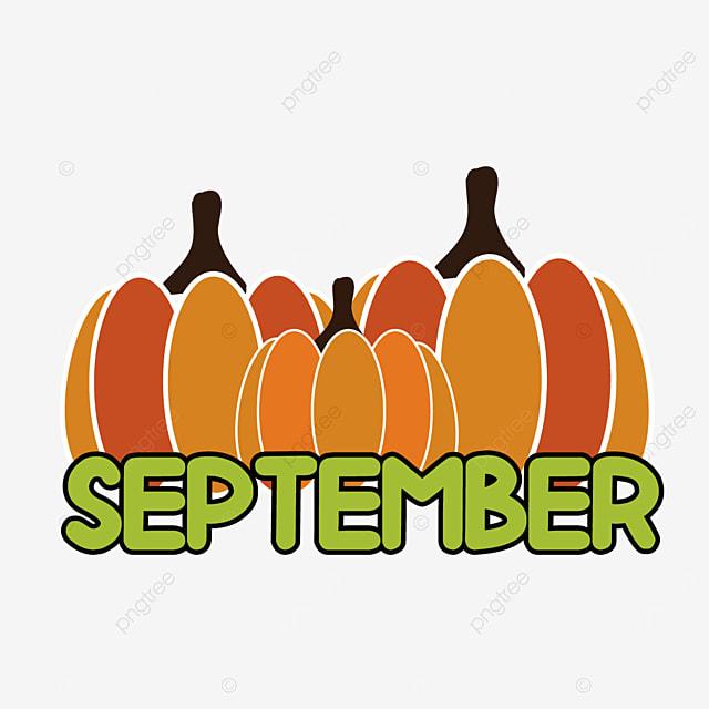 three simple pumpkins september clipart svg