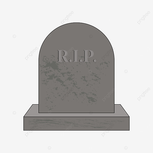 tombstone with floating ash on the front clipart