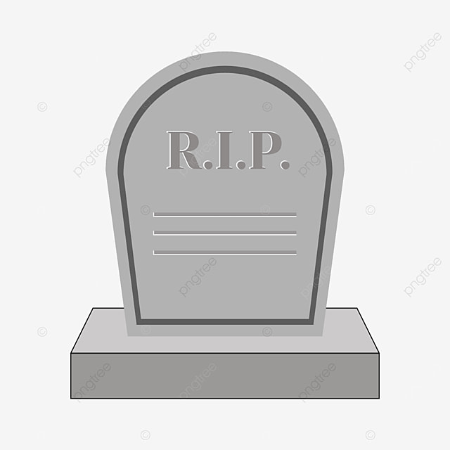tombstone with inscription on the front and pedestal clipart