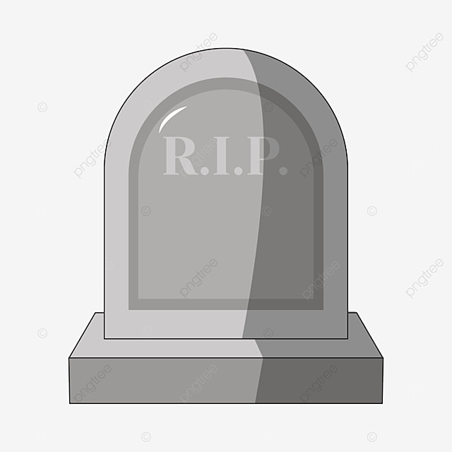 tombstone with light and shadow on the front clipart
