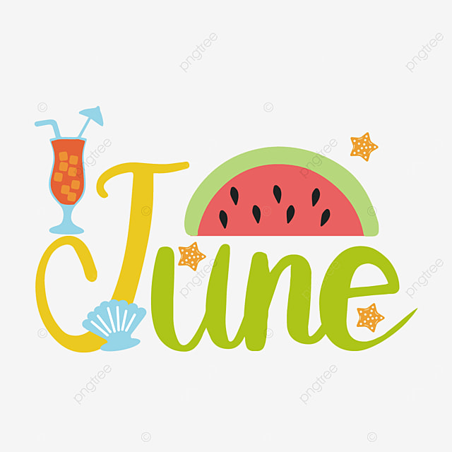 watermelon and drink decoration june clipart svg