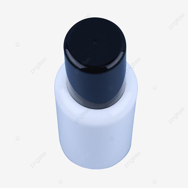 white cosmetic dispensing press spray bottle