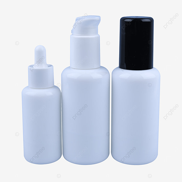 white essence in small bottles