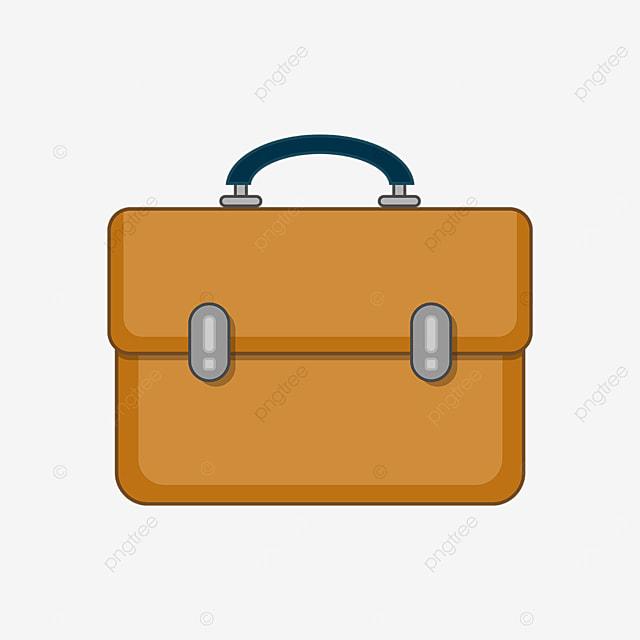 yellow brown briefcase clip art