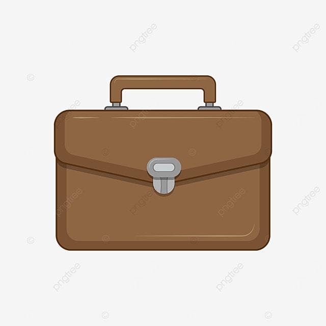 yellow brown mens briefcase clip art