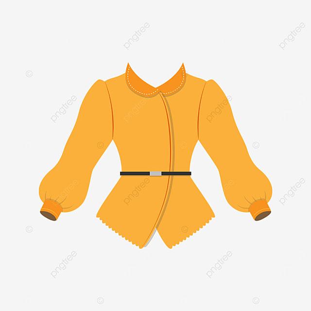 yellow female shirt clipart