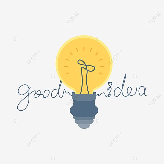yellow light bulb innovation clipart