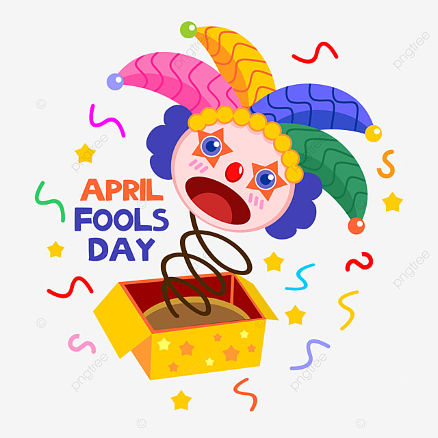 colourful april fools day clown toy box