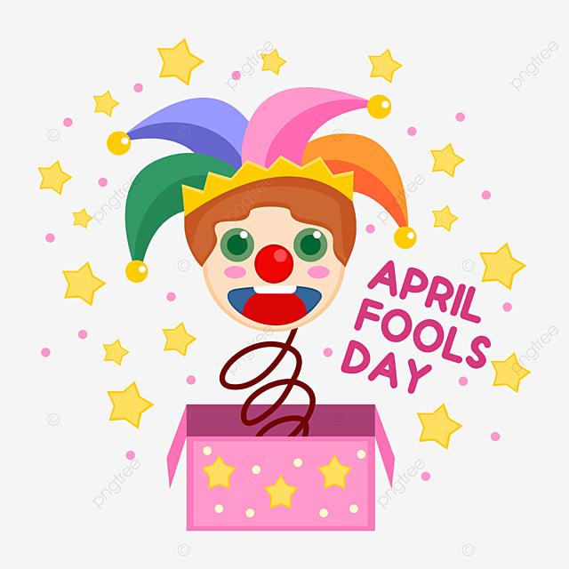 cute april fools day clown toy box