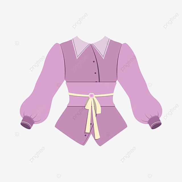 lilac blouse clipart