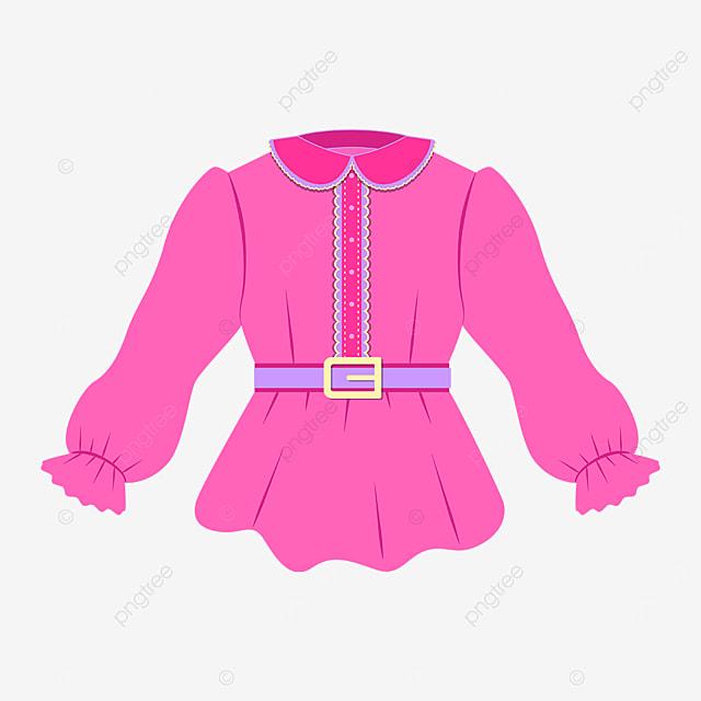pink purple shirt clipart