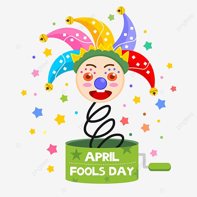 pretty april fools day clown toy box