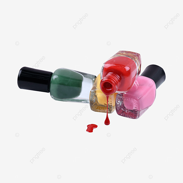 dripping red solid color nail polish liquid