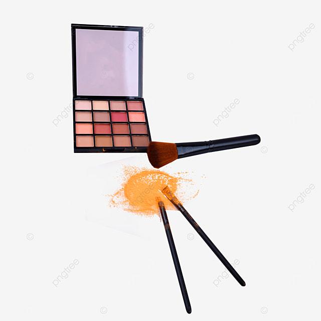 earth color eyeshadow box and makeup brush