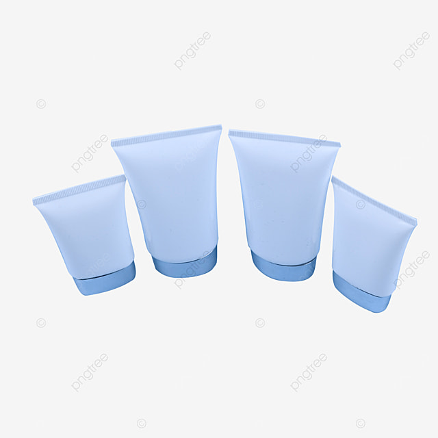 four bottles of cosmetic facial cleanser