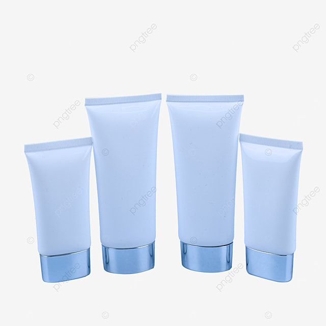 four bottles of skin care products
