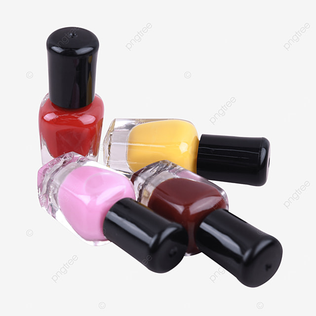 glass bottle of liquid nail polish