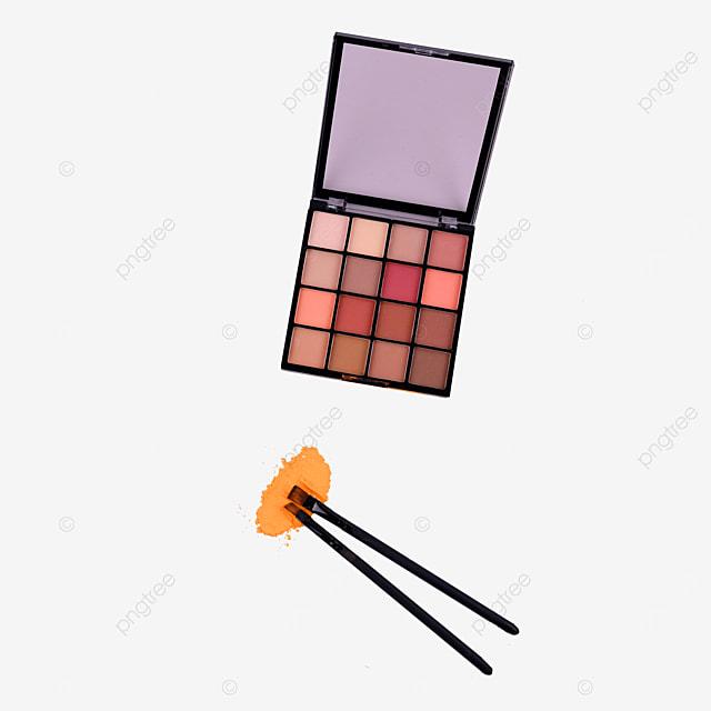 makeup eyeshadow palette and makeup brush
