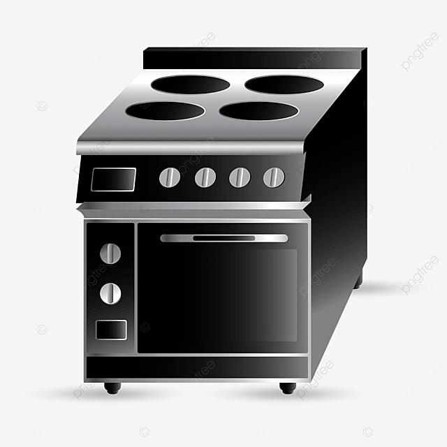 black stove oven clip art