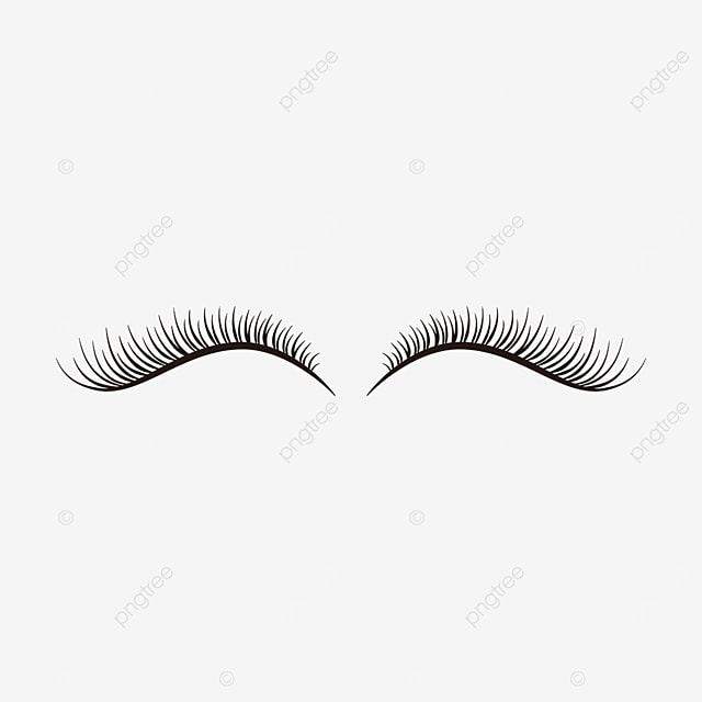 cartoon eyelashes clipart eye makeup material