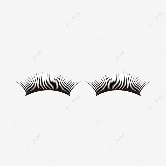 cartoon eyelashes material thick eyelashes clipart