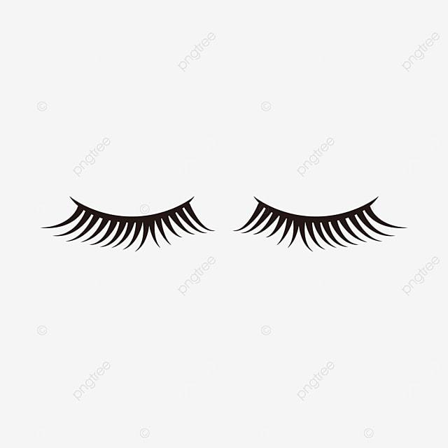 cartoon thick eyelashes clipart eye makeup material