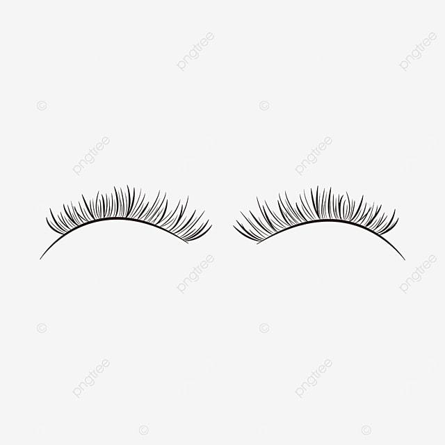 eye makeup material black thick eyelashes clipart