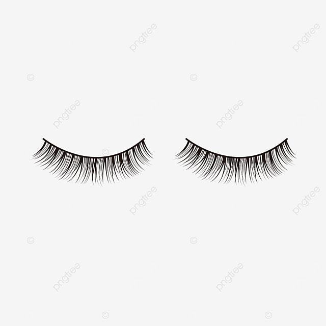 eye material black slender eyelashes clipart