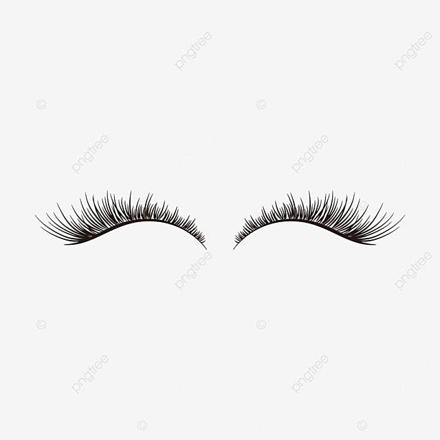 eyelash material black thick eyelashes clipart