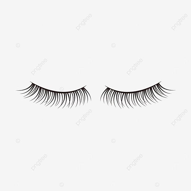 face makeup material black slender eyelashes clipart