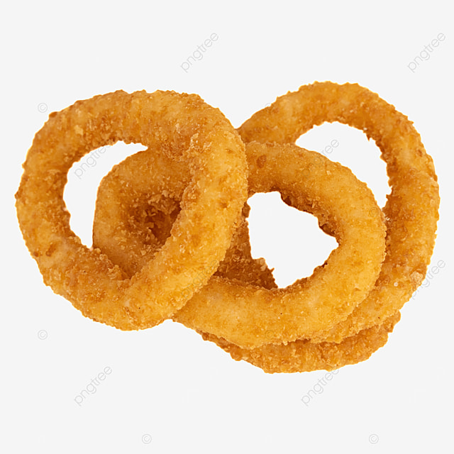 four foods onion rings fried food