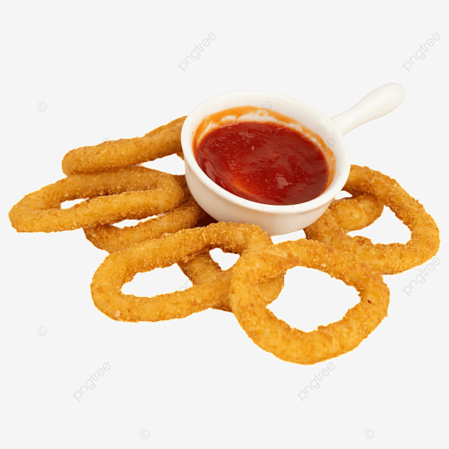 ketchup fried food onion rings