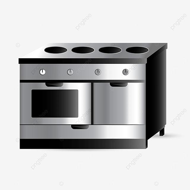 metal cooktop oven clipart