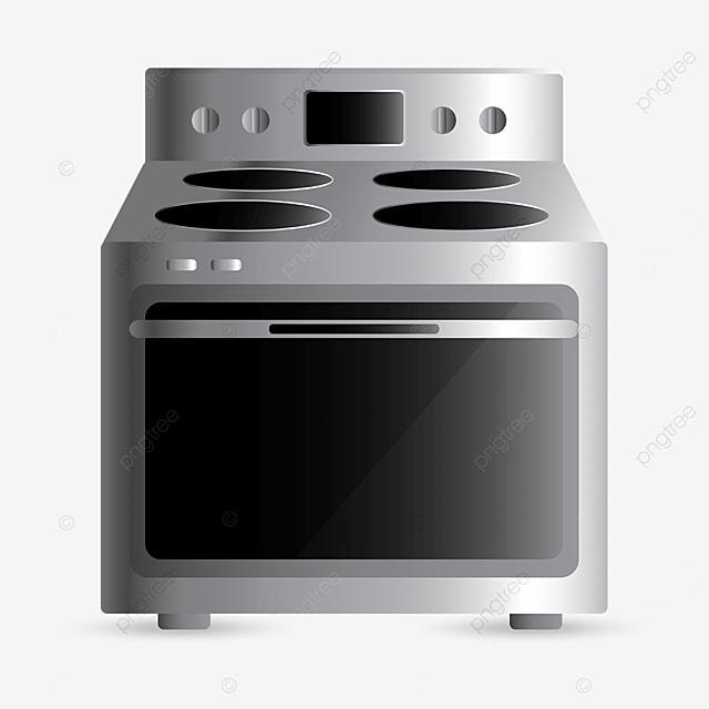 silver oven clip art