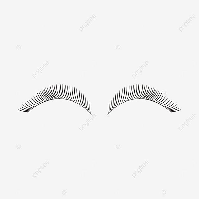 slender eyelashes black eyelashes clipart