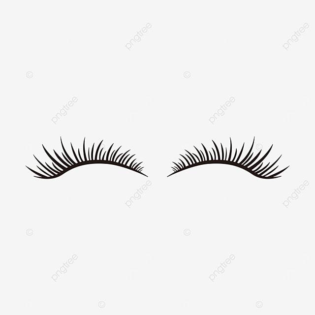 slender eyelashes clip art