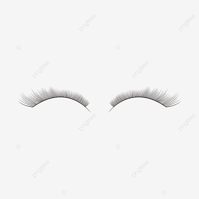 slender eyelashes clipart eye material