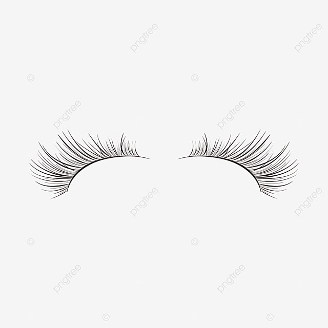 slender eyelashes material black eyelashes clipart