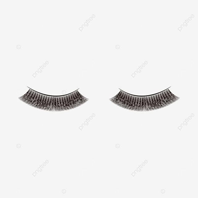 thick slender eyelashes clipart