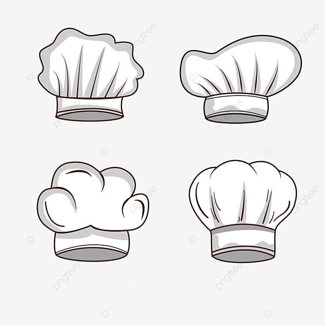 white chef hat gray shadow cartoon clipart