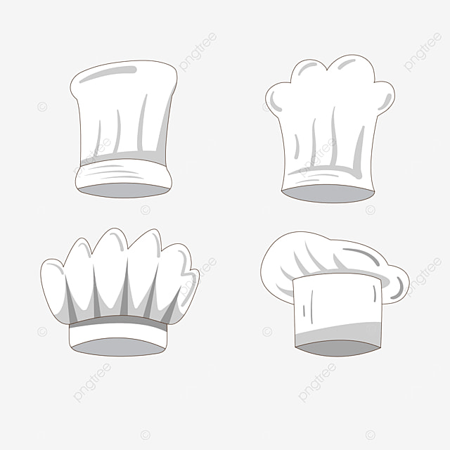 white chef hat gray shadow clipart