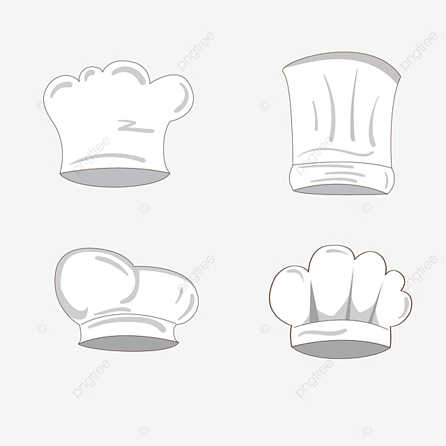white with shadow chef hat clipart