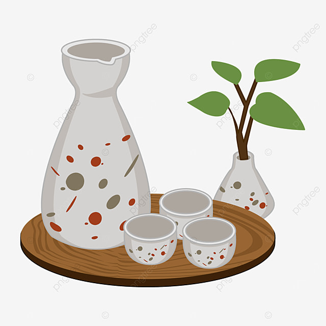 abstract dot pattern of japanese sake