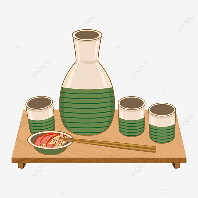 beige and green japanese sake