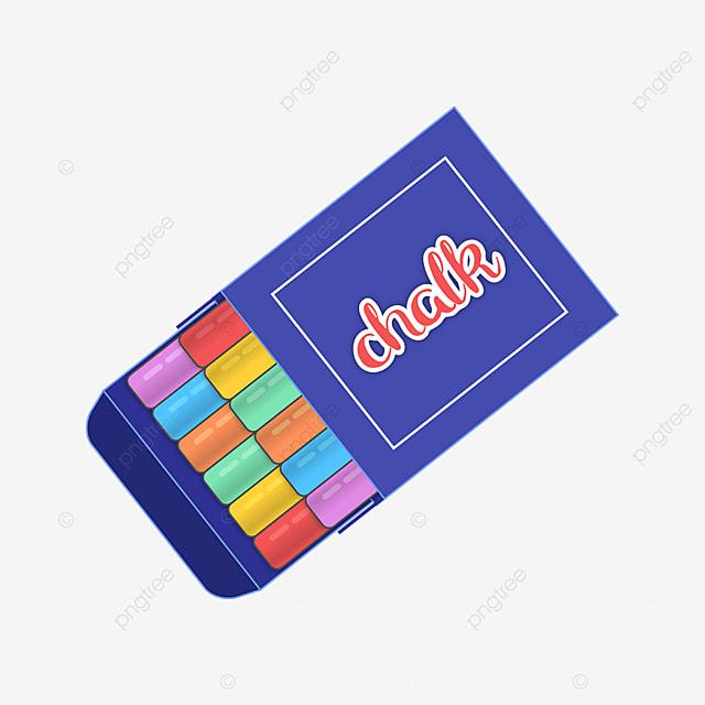 blue box pastel clipart