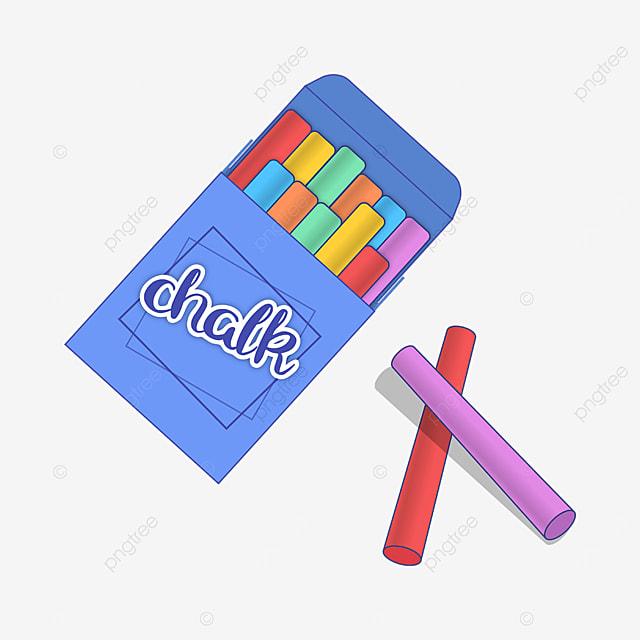 blue chalk box chalk clip art