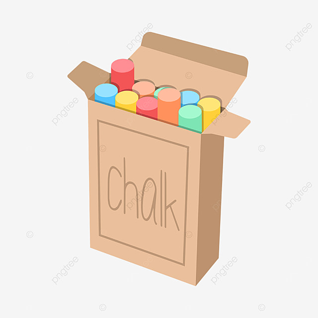 boxed colored chalk clipart