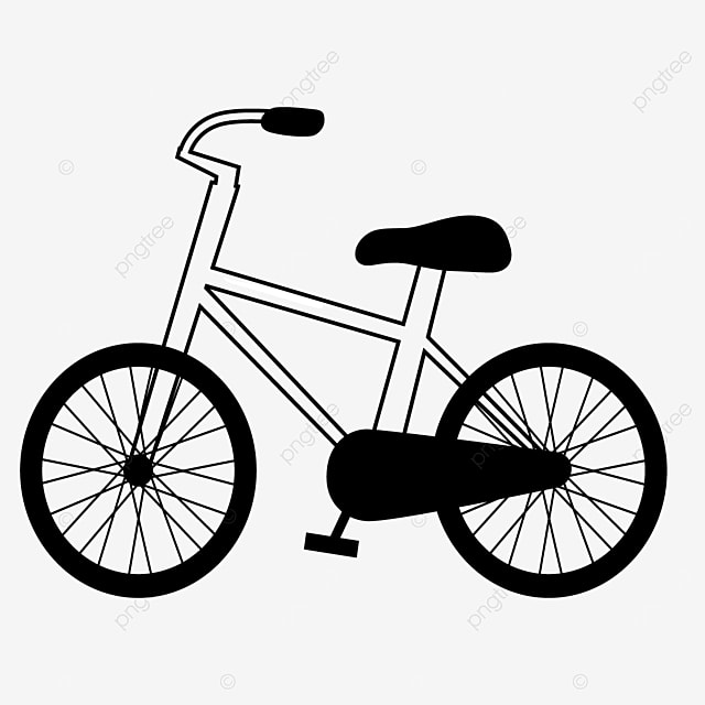 child riding tool bicycle clipart black and white