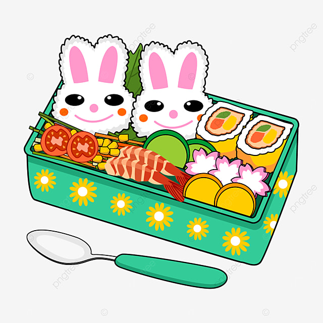 cute japanese lunch box with bunny theme